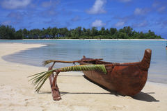 Outrigger on beach Stock Photos