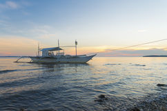 Outrigger boat in philippines Stock Photography