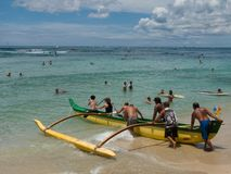 Outrigger Canoe Stock Photography