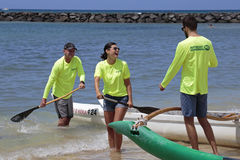 Outrigger Canoe Crew Stock Images
