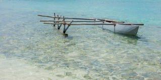 Outrigger Canoe Floating Royalty Free Stock Photo