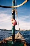 Outrigger canoe on Lac Memphremagog, Canada Royalty Free Stock Photos
