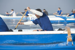 Outrigger Canoe Race Stock Photography