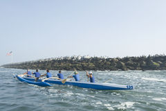Outrigger Canoe Race Royalty Free Stock Photography