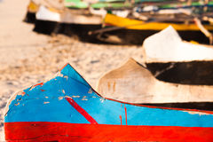 Outrigger canoes Stock Photos