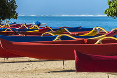 Outrigger Canoes 1 Royalty Free Stock Photo