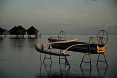 Canoe mooring Royalty Free Stock Image