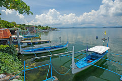 Outriggers on Lake Taal Royalty Free Stock Images