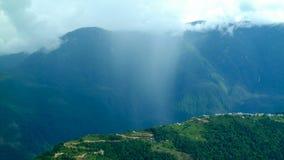 Outscaled,安纳布尔纳峰地区,尼泊尔 库存图片