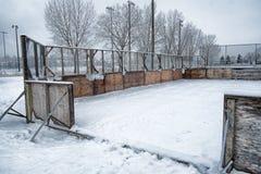 Outsdoor-Eisbahn lizenzfreie stockfotos