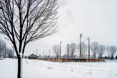 Outsdoor-Eisbahn stockfoto
