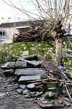 Outside ściany stary zdjęcie royalty free