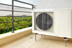 Outside Air Conditioner Royalty Free Stock Photo