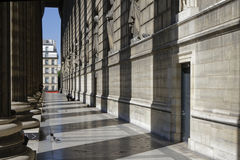 Outside alleys of Madeleine Church in Paris Royalty Free Stock Photography