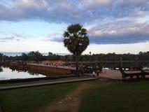 Outside Angkor Wat Royalty Free Stock Images