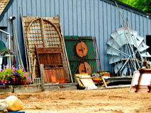 Outside Antiques and Collectibles Store Stock Photo