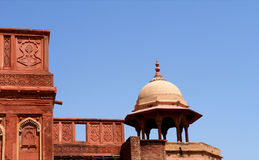 Outside Architecture of the Red Fort Royalty Free Stock Image