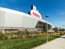 Outside of Arrowhead Stadium. Image is of Arrowhead stadium, loudest stadium in the world. Located in Kansas City, Missouri. Home of the Chiefs. Taken in early Royalty Free Stock Photos