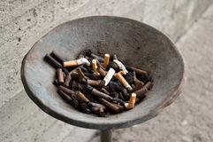 Outside ash tray Stock Images