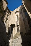 Outside avignon cathedral Royalty Free Stock Images