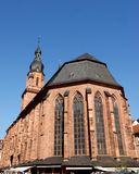 Outside the back of the Cathedral of Heidelberg in Germany. Photo made at the back of the Cathedral of Heidelberg in Germany. In the image you see the back of Royalty Free Stock Images