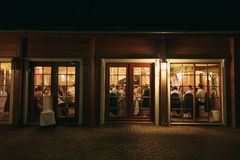 Outside banquet evening Royalty Free Stock Photography