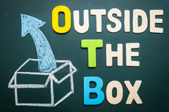 Outside the box - business concept of comfort zone Royalty Free Stock Photography