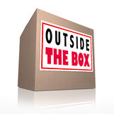 Outside the Box Innovative Thinking Royalty Free Stock Image