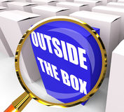 Outside the Box Packet Means to Think Creatively and Conceptuali Royalty Free Stock Images