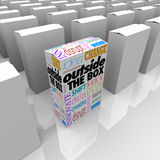 Outside the Box Unique DIfferent Solution to Problem Package Stock Photos