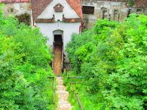 Outside Brasov. Near old fortress in Kronstad in 2014 after a small rain Royalty Free Stock Photo