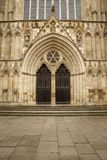 Great british cathedral. Outside building shot of york cathedral in england Royalty Free Stock Photo