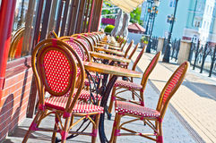 Outside cafe. This photograph represent an outside cafe Royalty Free Stock Image