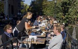Outside Cafe Stock Image