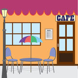 Outside cafe shop. Royalty Free Stock Image