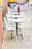 Outside cafe Royalty Free Stock Photo
