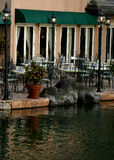 Outside cafe on waters edge. Outside cafe on the water Royalty Free Stock Photos
