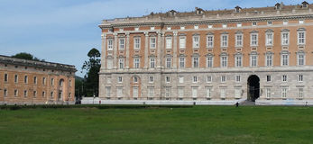 Outside Caserta Royal Palace Fotografia Royalty Free