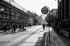 Outside Christiania, Copenhagen, Denmark Royalty Free Stock Images
