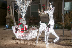 Outside christmas lights Royalty Free Stock Images