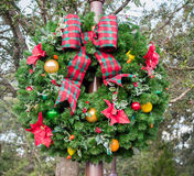 Outside Christmas Wreath royalty free stock images