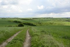Outside the city - rural landscape - a field Stock Images