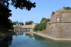 Outside city walls Peschiera Del Garda, Italy Royalty Free Stock Image