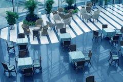 Outside coffee restaurant Stock Photo
