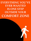 Outside comfort zone. Finding the things you truly want outside your comfort zone vector illustration