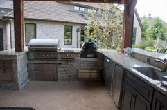 Outside cooking area Royalty Free Stock Images