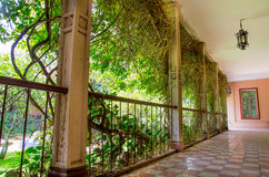 Outside corridor at an spanish hacienda in Ecuador Stock Photography