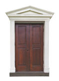 Outside door with fancy molding . Royalty Free Stock Images