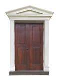 Outside drzwi z galanteryjnym formierstwem Obrazy Royalty Free