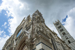 Outside Duomo of Siena. Italy Royalty Free Stock Photography